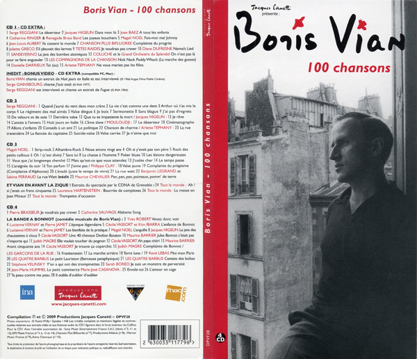 100 chansons 4 compacts